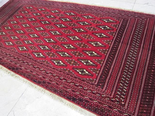 【送料無料】トルキャマン絨毯(129×60cm) Y190