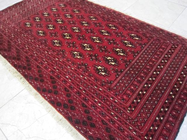 【送料無料】トルキャマン絨毯(129×69cm) Y198