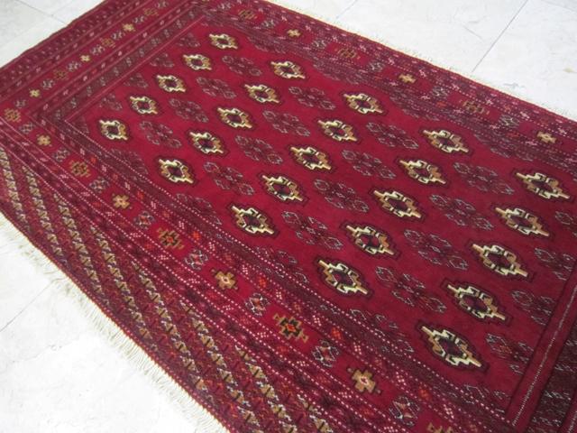【送料無料】トルキャマン絨毯(135×67cm) Y158