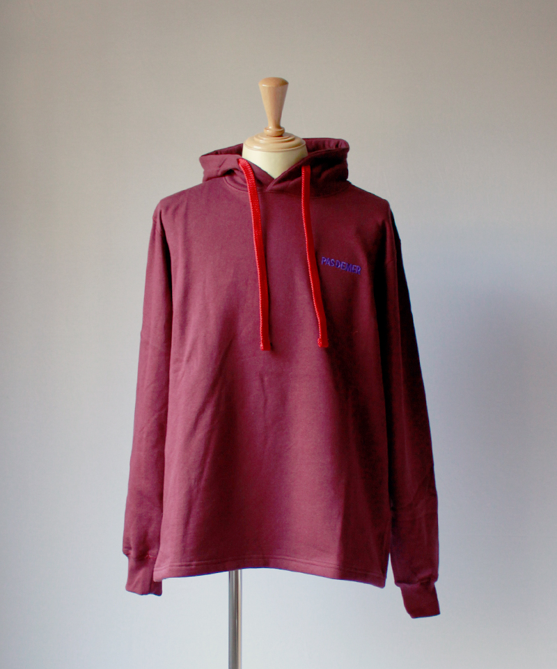 PAS DE MER FIRE ANTS HOODY dark red