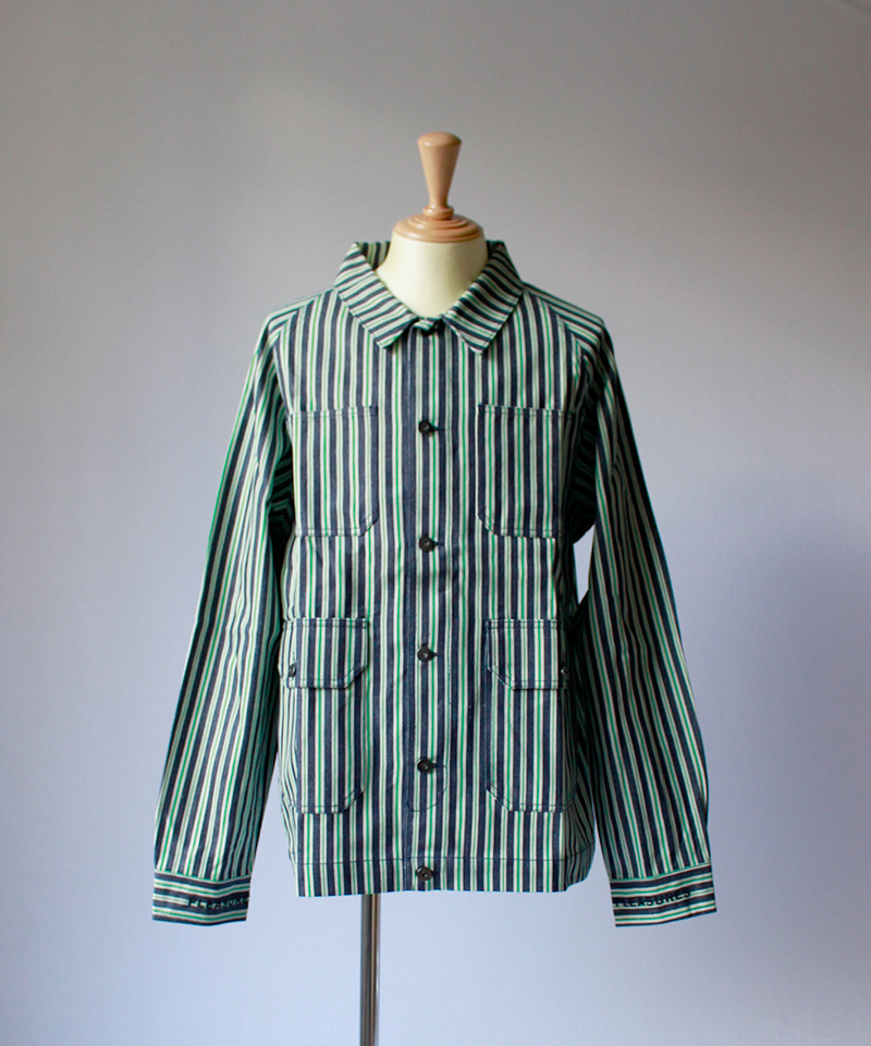 PLEASURES SPIRIT DENIM JACKET green