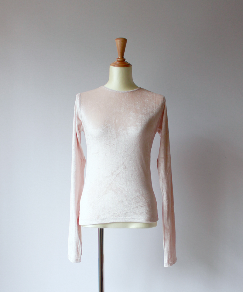 BASERANGE OMO LONG SLEEVE TEE rits rose