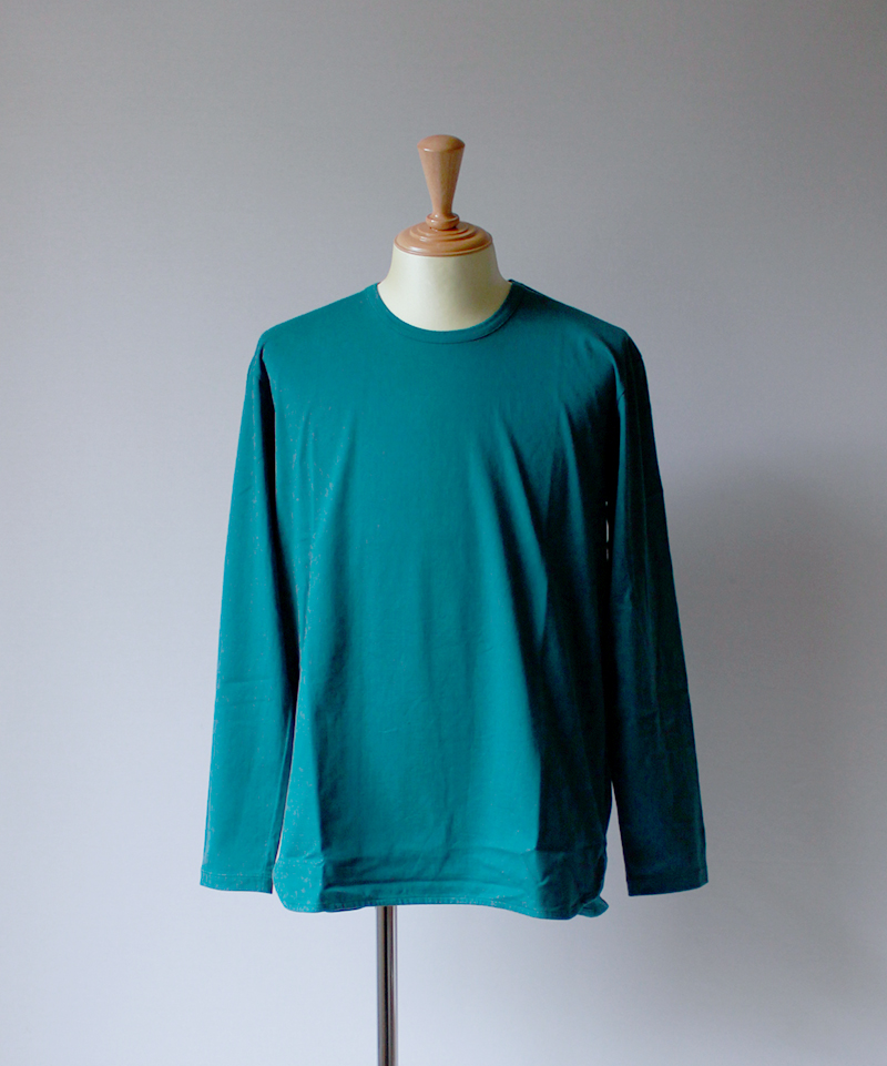 CURLY SDH LS CN TEE ink green