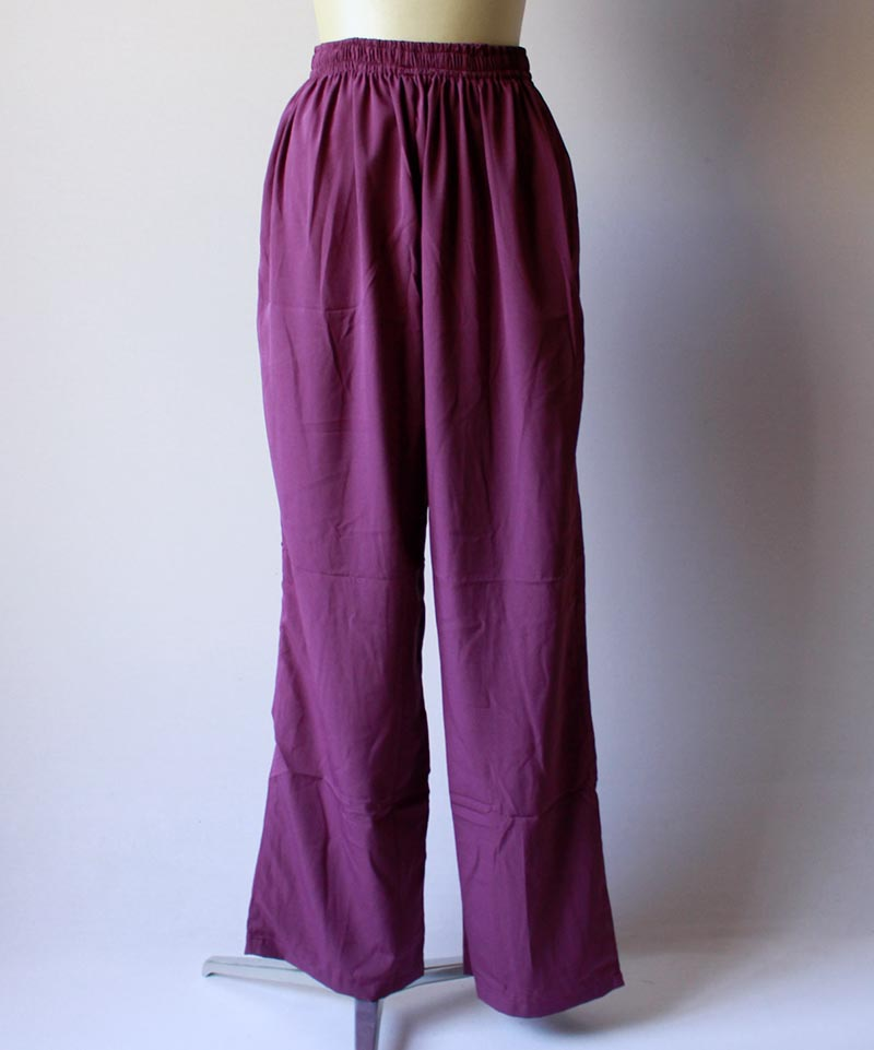 mmooii SILK PANTS purple
