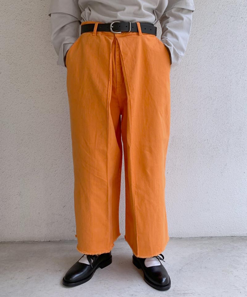 AALTO DENIM WITH PLEAT CROPPED ORANGE