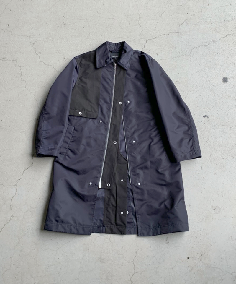 3.1 Phillip Lim Nylon Utility Mac Coat navy