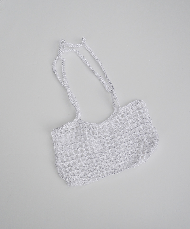 CIANSUMI satin tote big square WHT