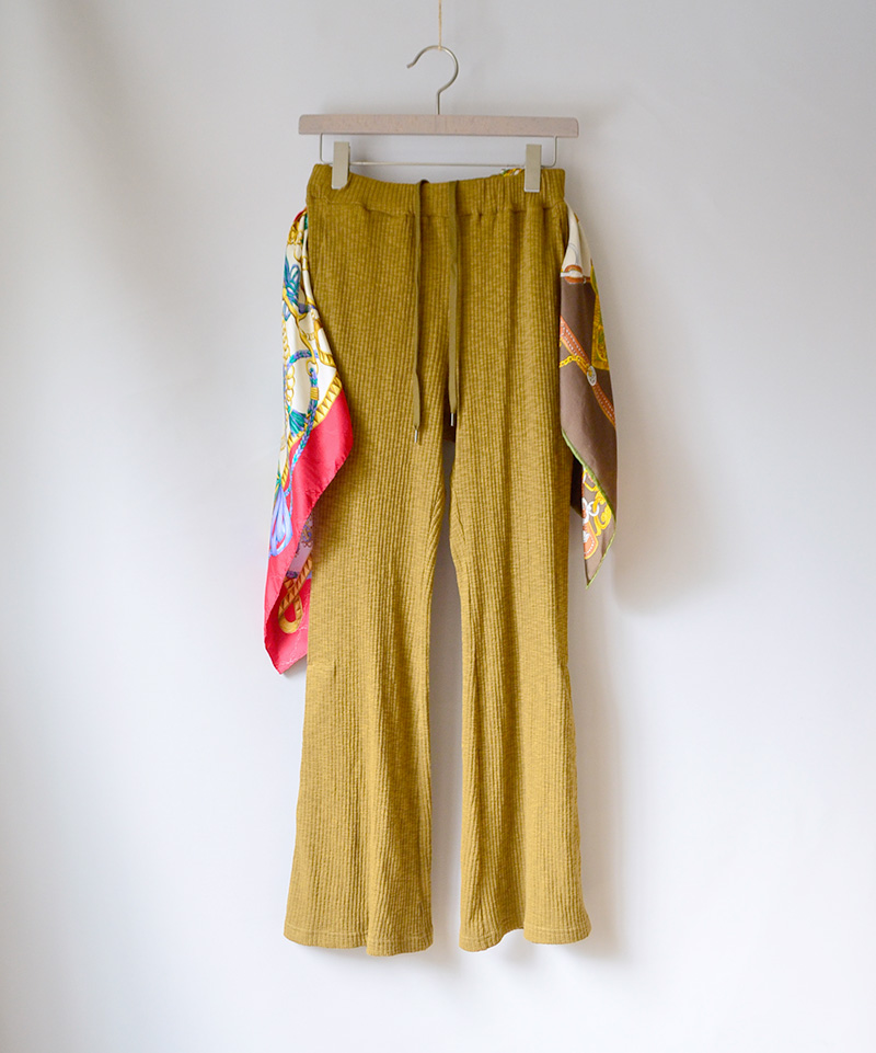 LENZ SCARF PANTS brown-B