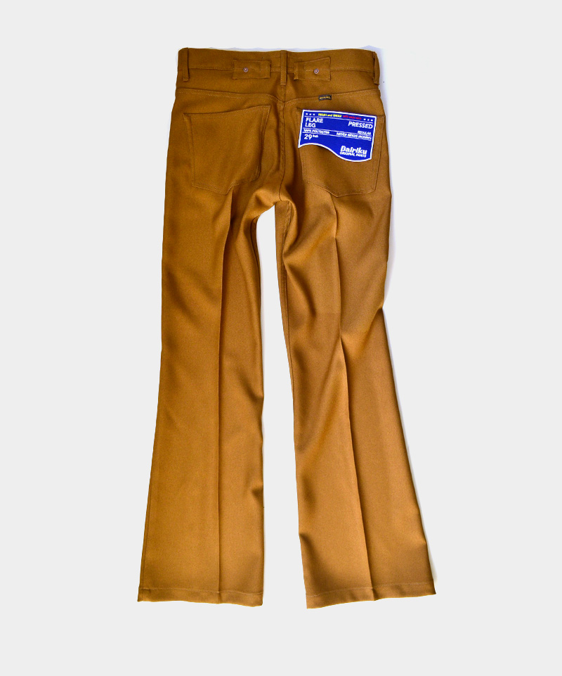 DAIRIKU Flare Flasher Pressed Pants Soil