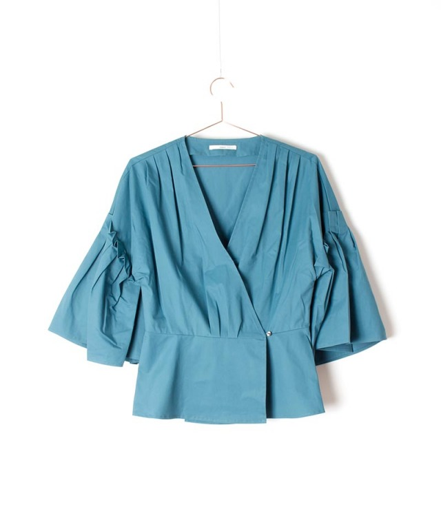 mmooii sleeve pleated blouse