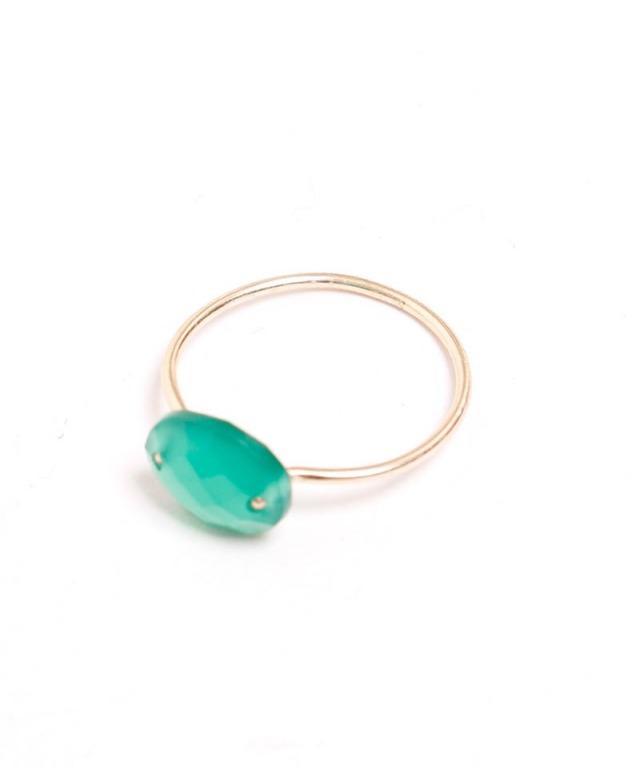 Atelier Mon greencalcedony ring