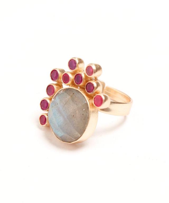 Atelier Mon pinkonyx labradorite ring