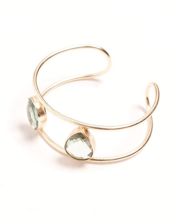 Atelier Mon greenamethyst bangle