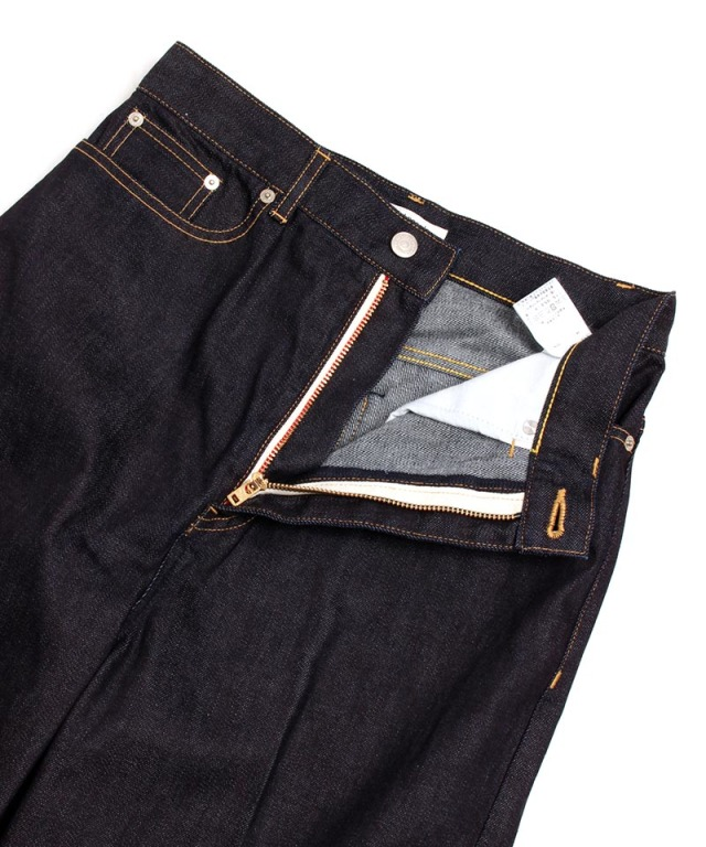 beautiful people SELVAGE DENIM 5POCKET WIDE PANTS