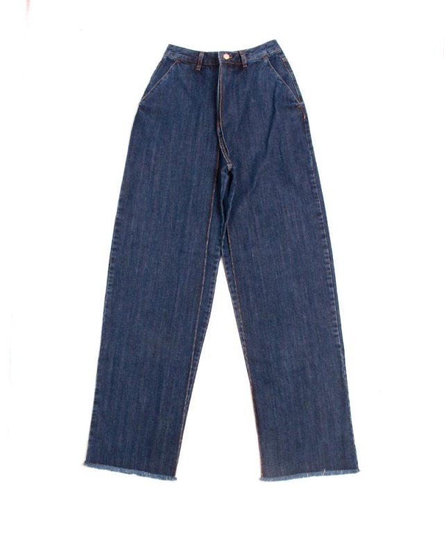 AALTO WIDE STRAIGHT FIT JEANS WITH PLEATS