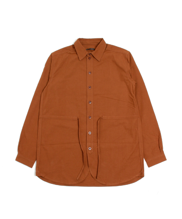 FRANK LEDER BRUSHED COTTON SHIRT + DRAWSTRING