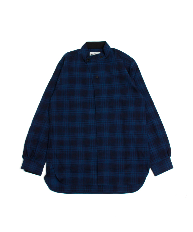 QUILP STAND COLLAR SHIRT