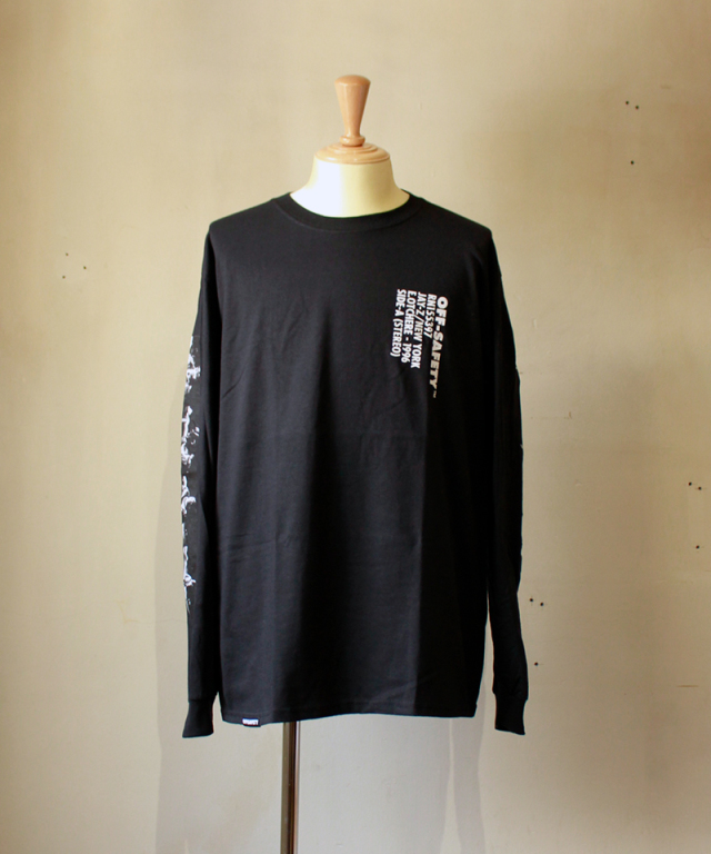 OFF SAFETY JIGGA STRIP L/S T-SHIRT black