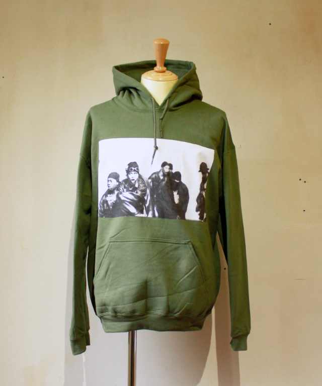 OFF SAFETY SWARM HOODED SWEARTSHIRT a.green