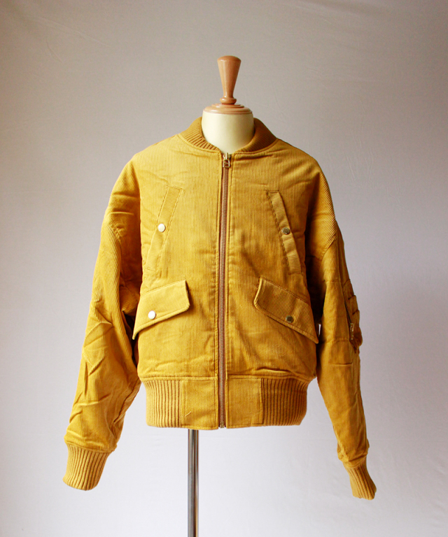 LANDLORD CORDUROY BOMBER JACKET yellow