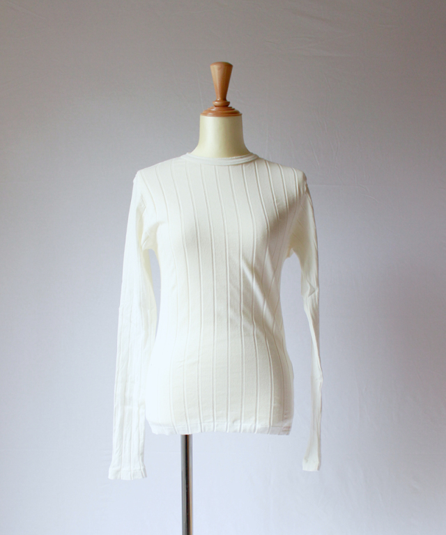 YOUNG & OLSEN BROAD RIB BACKLACE LS white