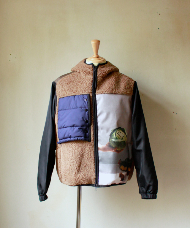 3.1 Phillip Lim REVERSIBLE SHERPA VEST JACKET W HOOD brown