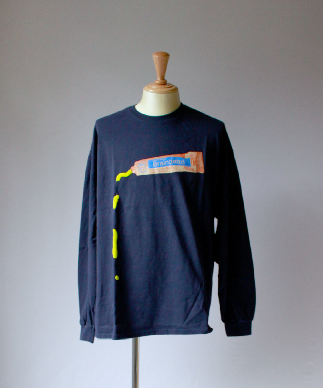 BRAIN-DEAD OOZE LONG SLEEVE navy
