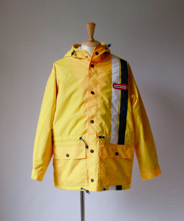 BRAIN-DEAD HOODED RACING JACKET yellow