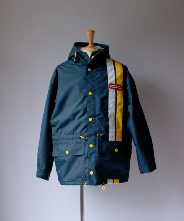BRAIN-DEAD HOODED RACING JACKET navy