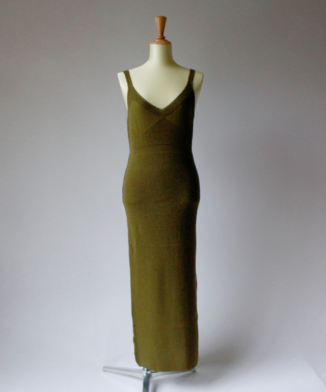 TAN HF LONG DRESS khaki