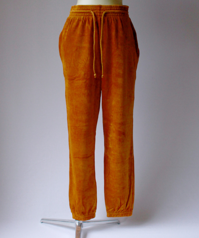 BASERANGE Sweat Pants Velours Thete Brown