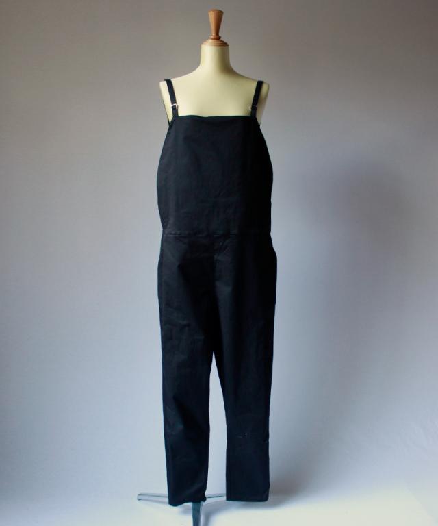 BASERANGE Long strap overall Black