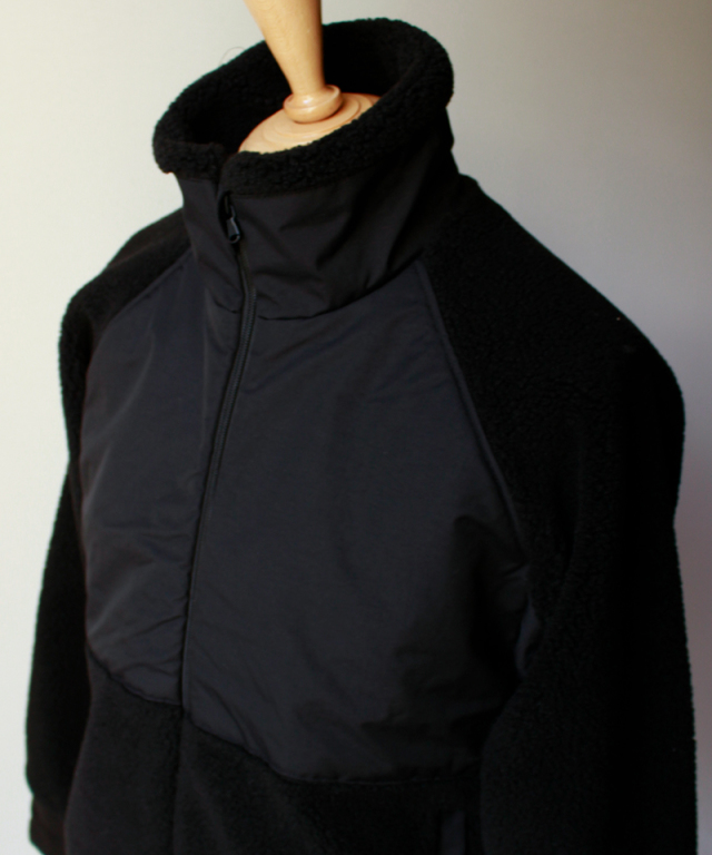 CURLY CLOUDY BOA SC BLOUSON black
