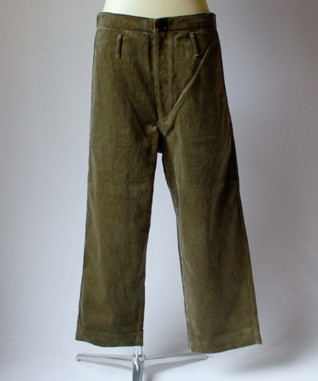 bukht 8WELL CORD WORK PANTS khaki