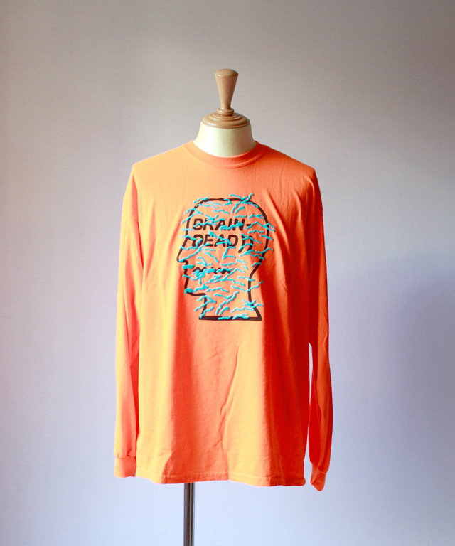 BRAIN-DEAD INFECTED LOGO LONG SLEEVE emergency orange