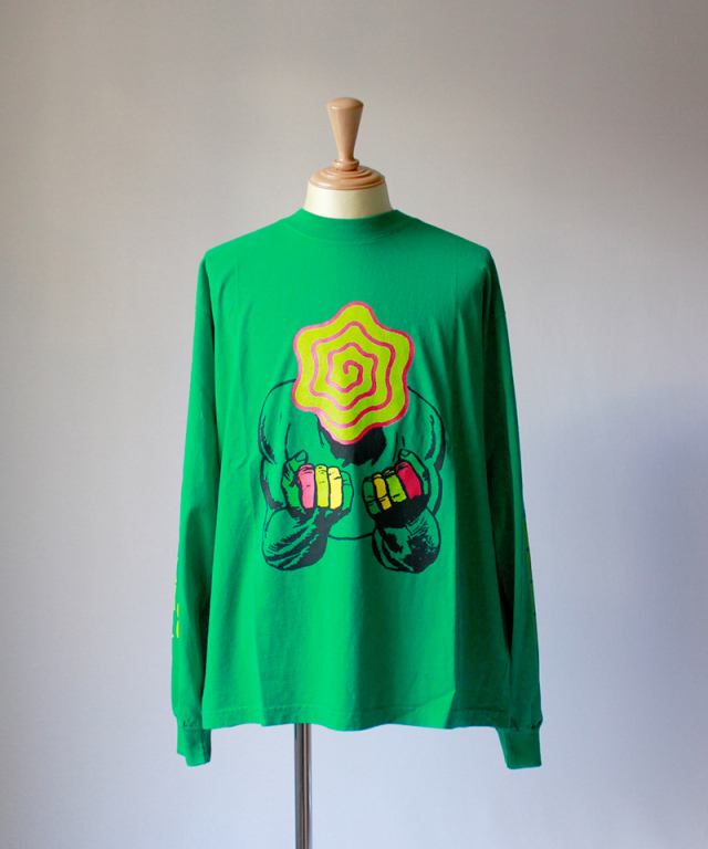 BRAIN-DEAD INDUSTRIAL WORKS LS MOCK NECK kelly green