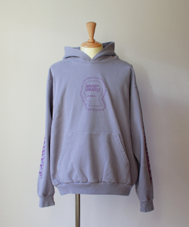 BRAIN-DEAD PSYCHO HIPPIE HOODIE washed blueberry