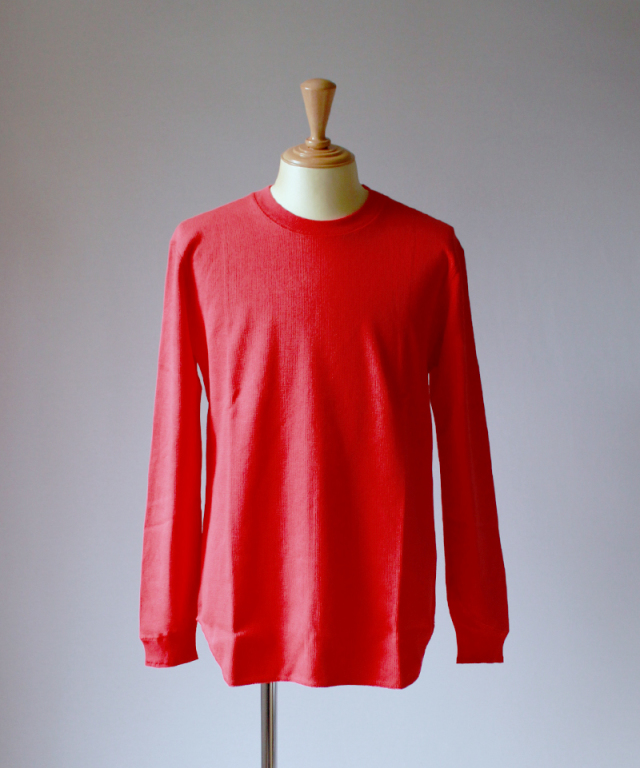 CURLY NOMADIC LS TEE ink red