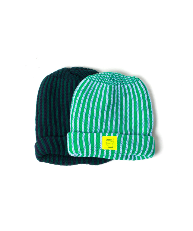 BRAIN-DEAD LOGO PATCH BEANIE navy/forest