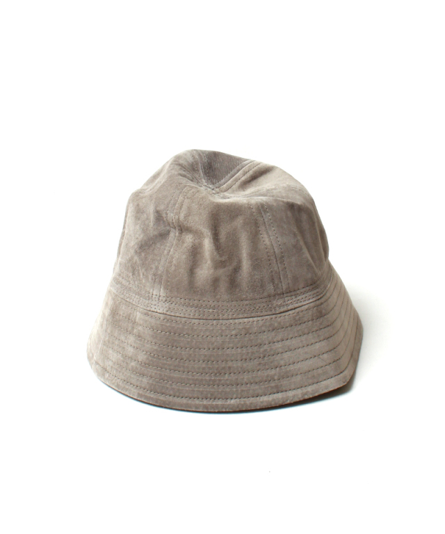 Hender Scheme pig suede sailor hat black