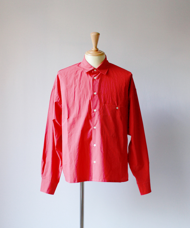 bukht LOOSE SHIRTS - PAPER TOUCH FAB - cherry red