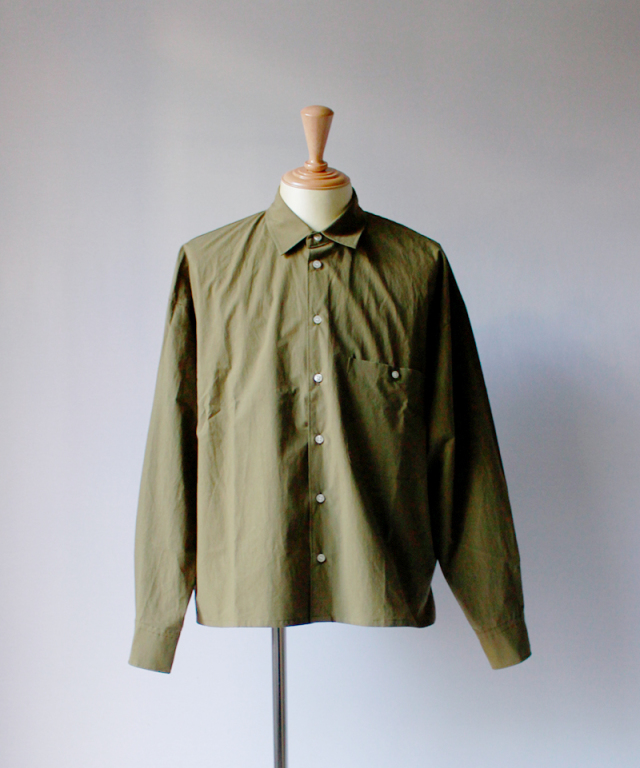 bukht LOOSE SHIRTS - PAPER TOUCH FAB - khaki