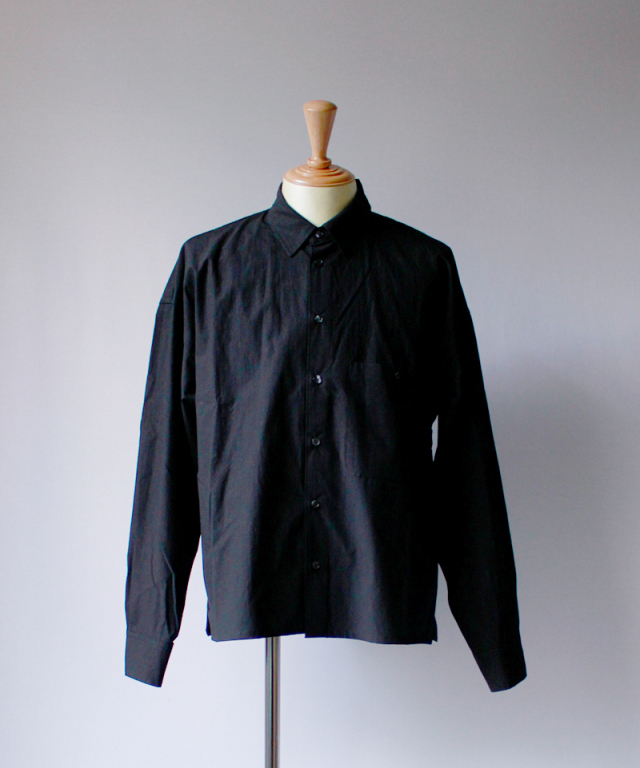 bukht LOOSE SHIRTS - PAPER TOUCH FAB - black