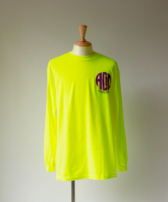PLEASURES ACID HOUSE LONG SLEEVE T-SHIRT s green
