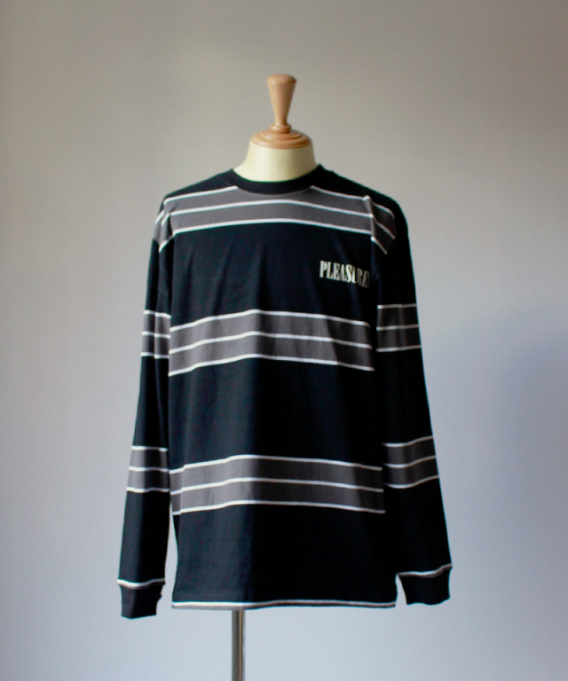 PLEASURES SPIRIT STRIPE L/S T-SHIRT black