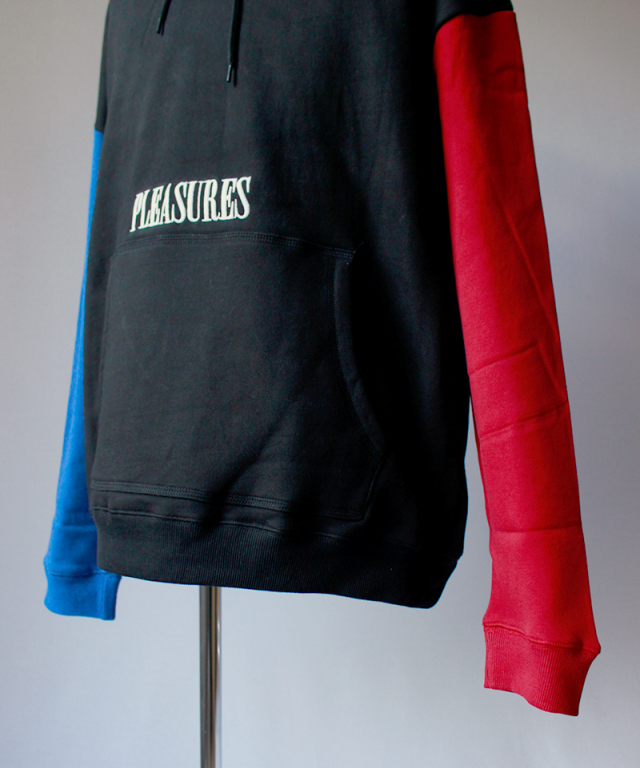 PLEASURES SPLIT COLOR HOODY black