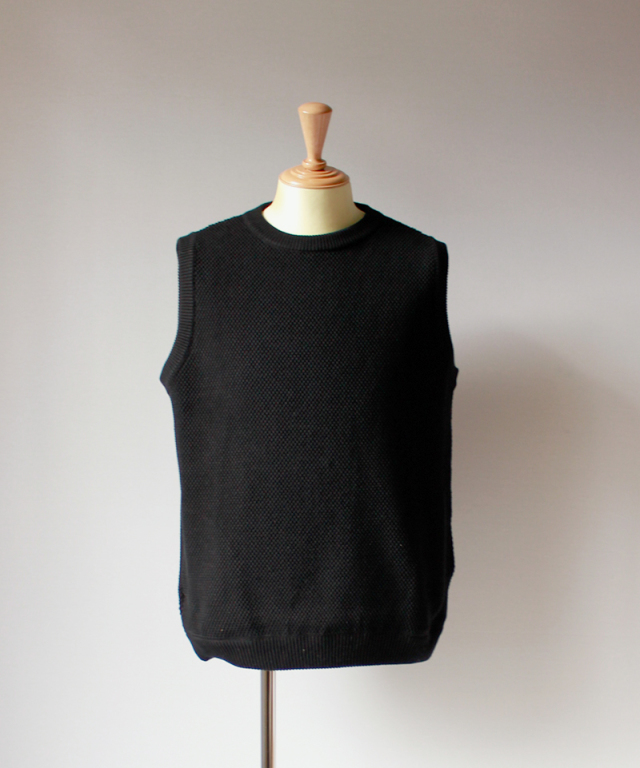 crepuscule exclusive moss stich vest black