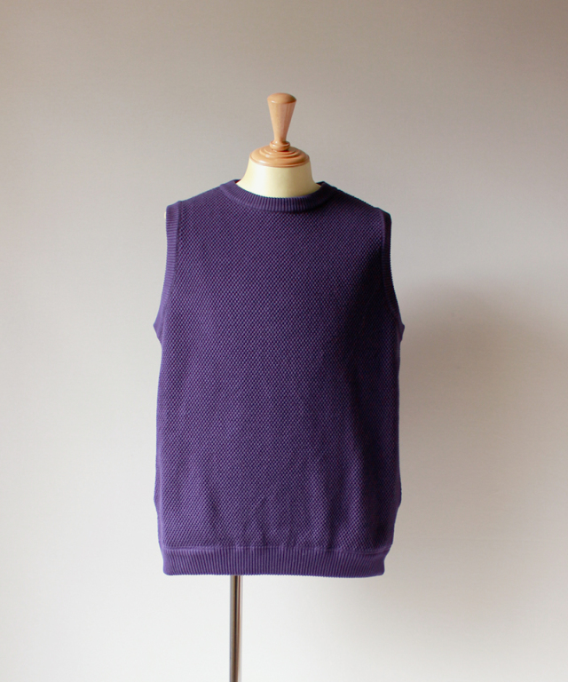 crepuscule exclusive moss stich vest purple
