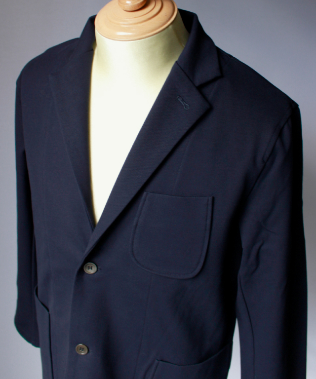 CURLY TRACK JACKET navy