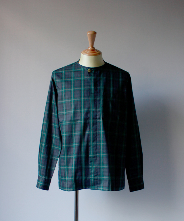 QUILP GADD NO COLLAR SHIRT green